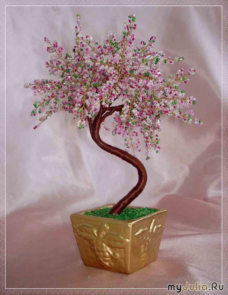Бисероплетение: деревья из бисера (красивые фото)Работы Ольги Гулидовой.
