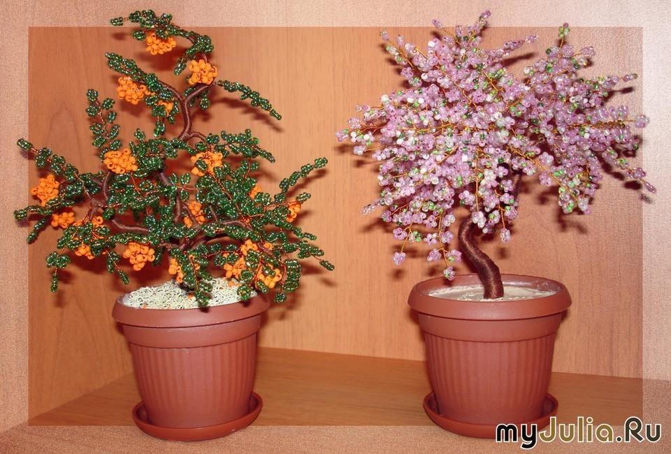 Деревья из бисера (бисероплетение) - бисероплетение - Цветы.