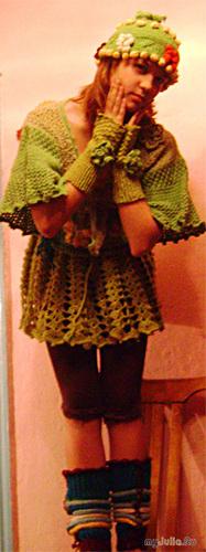 Болеро шапочка митенки гетры
