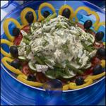 Горячий салат со стручковой фасолью