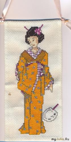 Японочка - вышивка крестом