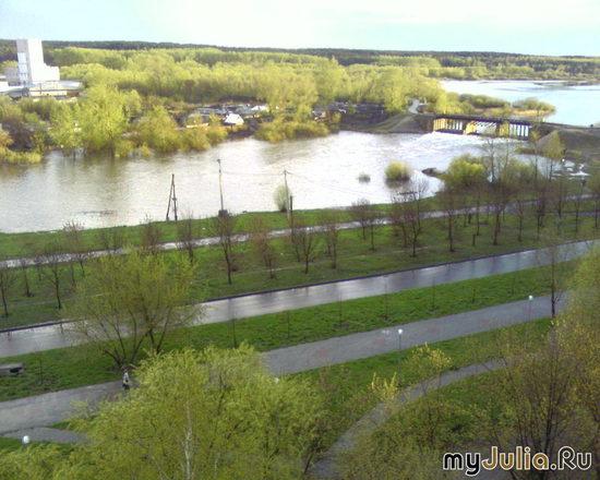 Челябинск,река Миасс, весна