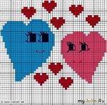 Вышивка сердечек ко дню Святого Валентина