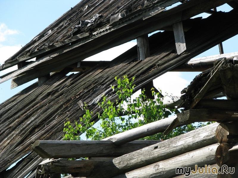 Крыша деревенской избы...Надёжно защищает от снега, ветра и дождя!