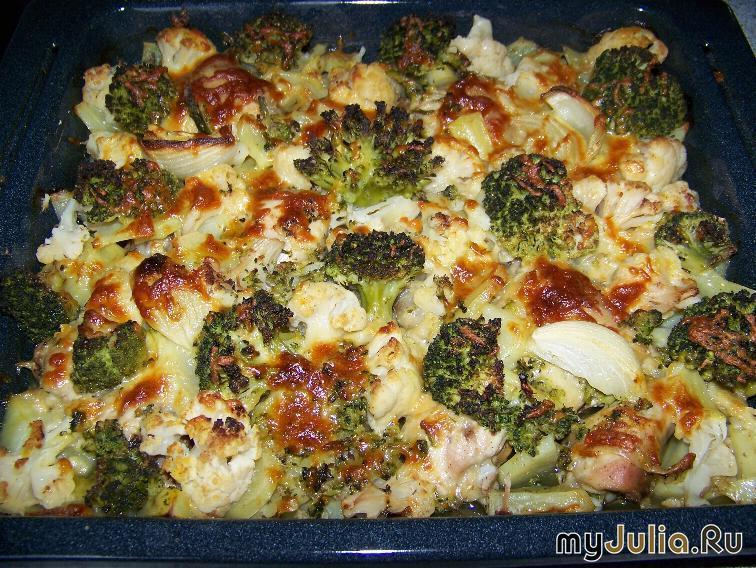 Запеканка с овощами и мясом в духовке