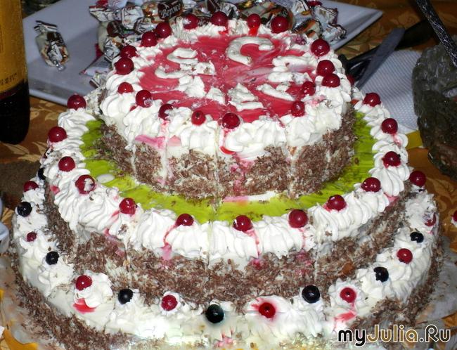 Трехэтажный торт своими руками на день рождения 25