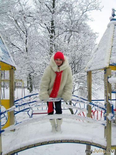 Снегурочка на мостике