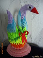 Радужный лебедь. Модульное оригами.