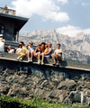 На фоне Ай-Петри. Воронцовский дворец. 2000 год.