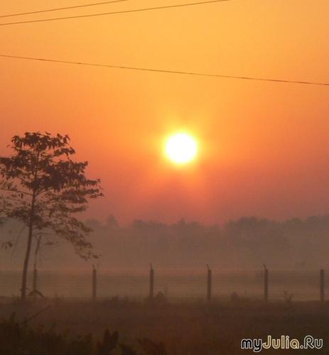 Закат в Индии