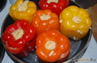 Цветные хрустящие перцы
