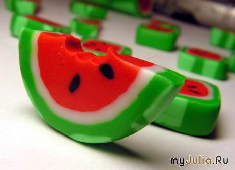 Вязаный арбуз.  Мастер-класс! из рубрики Вязаные игрушки крючком.