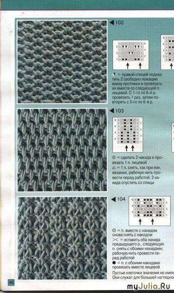 Фото узоры вязанные спицами со схемами