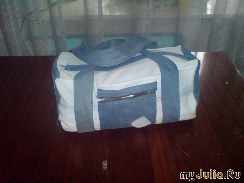Дорожная сумка своими руками из джинс