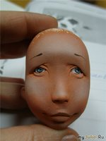 видео мастер-класс лепки головы куклы.