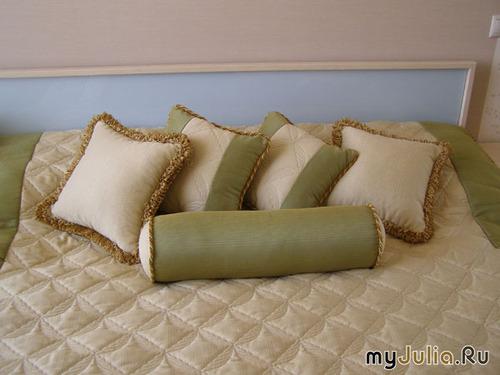Подушка из штор своими руками