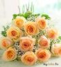 букет кремовые розы