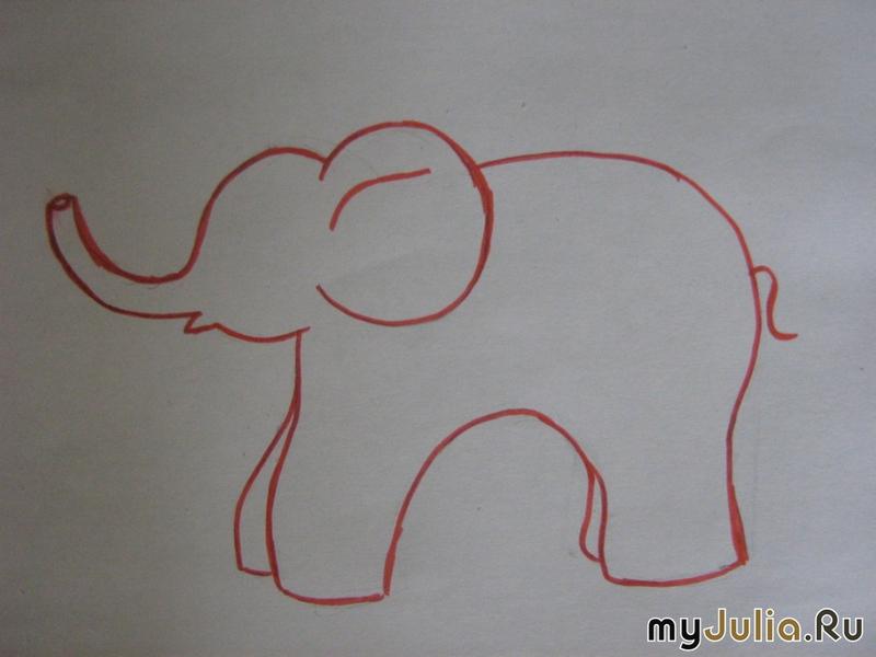 Психологические тесты рисуем слона