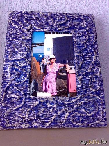Фоторамка из картона и папиросной бумаги