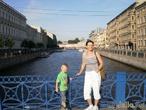 В Питере в младшим сыном,август 2009(мне 42,ему 4 года)