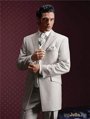 свадебный, вечерний мужской костюм - фото.