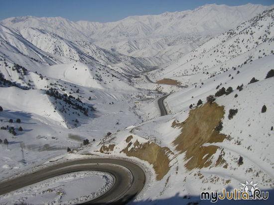 дорога в Коканд перевал Камчик