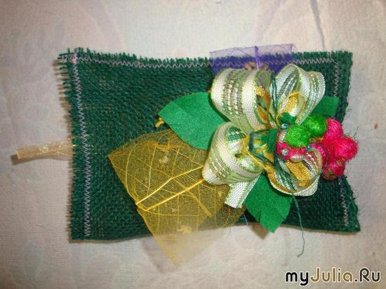Мешочек с хмелем зелёный