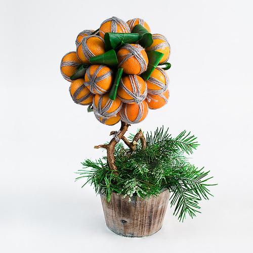 Нажмите на иллюстрации фото урока по созданию мандаринового дерева для того, чтобы увеличить.
