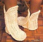 снова вязанная обувь