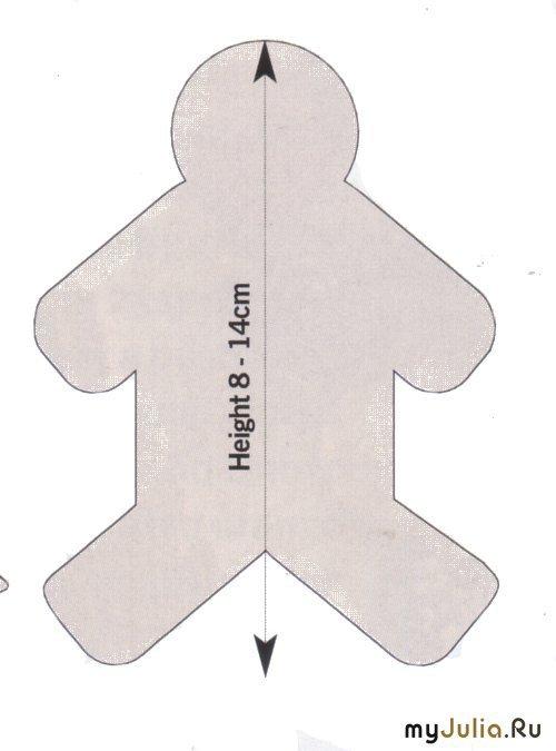 Как сделать форму для пряничного человечка