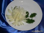 Хризантема из лука. Мастер-класс