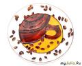 Образец, под заказ / чайно - кофейный набор тарелка