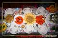Новогодний стол. Вид сверху