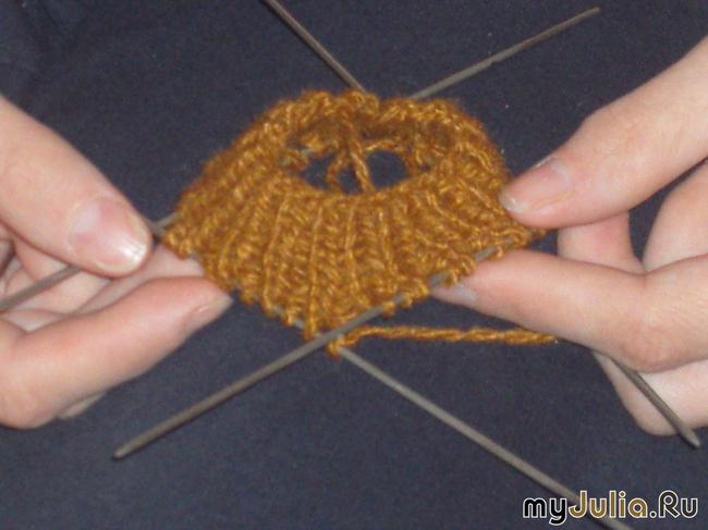Комментарий: Схема вязания носков крючком.