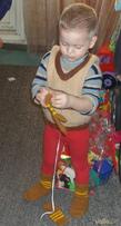 Детские вязаные носочки.