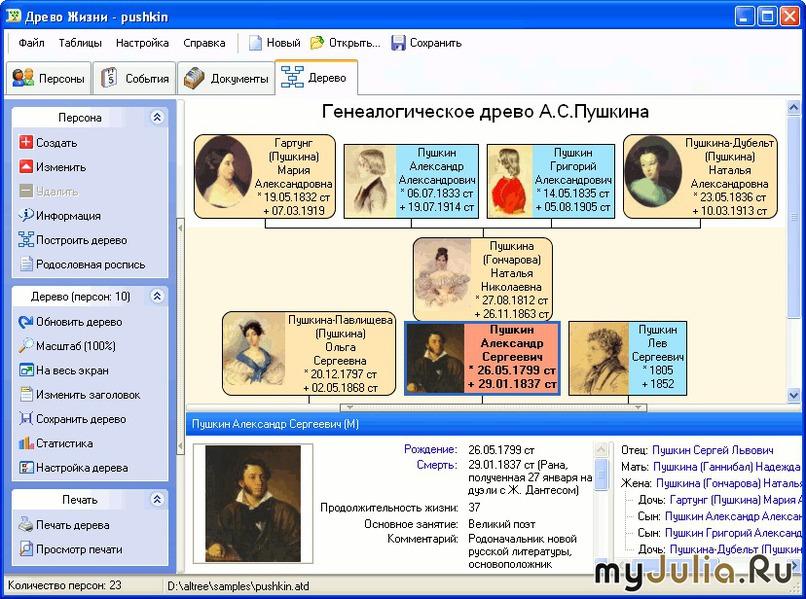 Программа по созданию генеалогического дерева