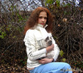 Дочь моя Оля с Мотькой.