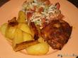Запечённые куриные окорочка с картофелем (фото-рецепт)