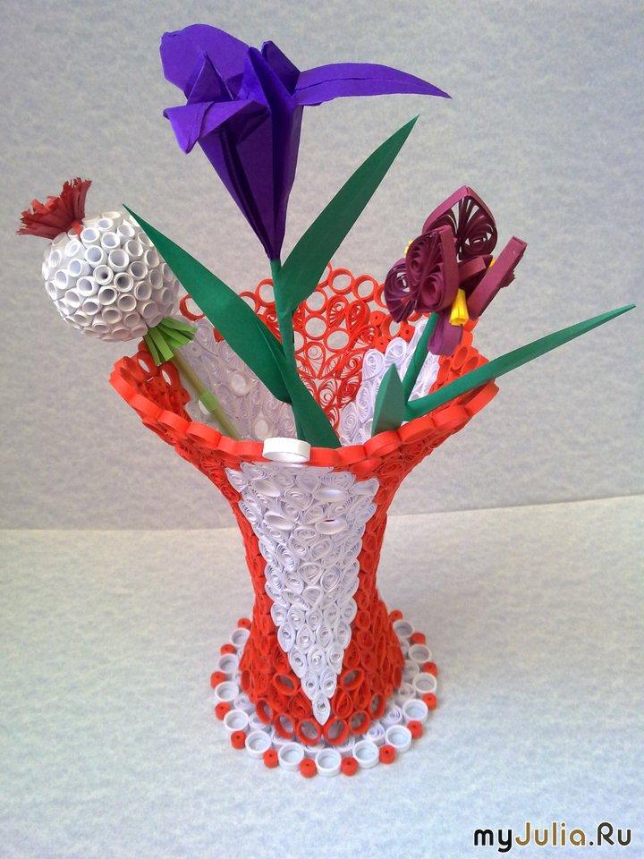 Как сделать вазу для бумажных цветов