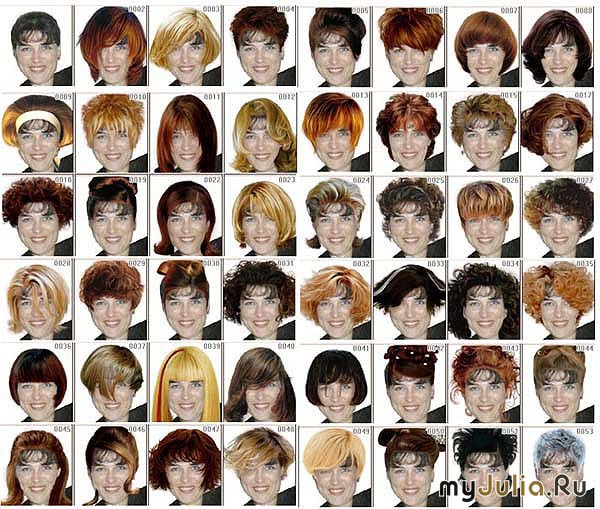 подборка прически и цвета волос
