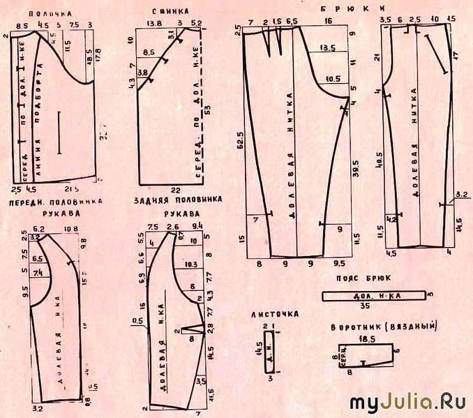 текст выкройка женской пижамы 50 размера выбрали: