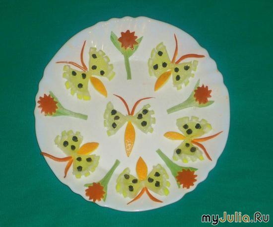Бабочки из лимона