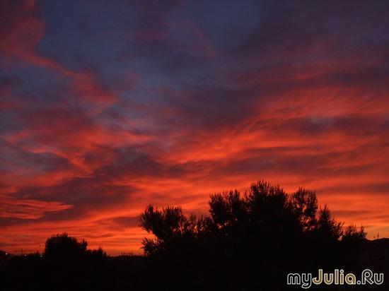 закат над Косто-Бланкой