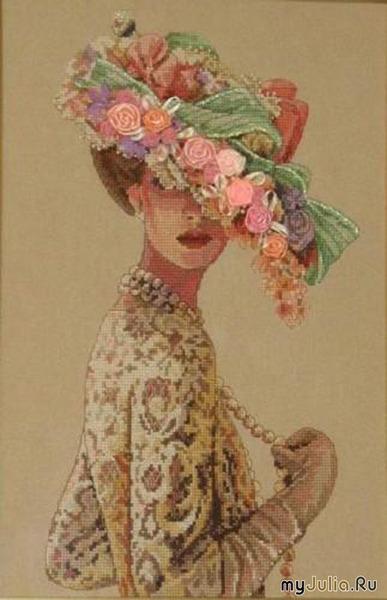 """Схема вышивки  """"Викторианская Элегантность """" ."""