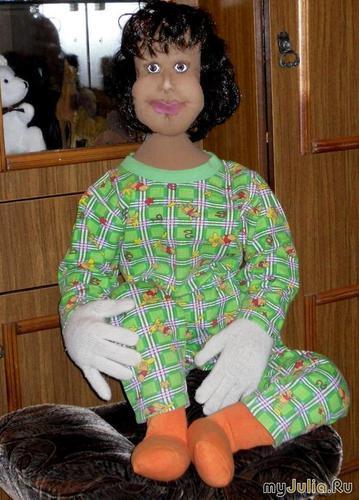 Диана (1 метр 15 см.)текстильная кукла