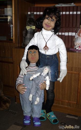 Диана(1 м. 15 см.) и Женька(74 см.)