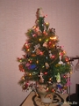 так выглядят бисерные игрушки на Рождественской елке