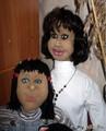 Лица Дианы и Жени