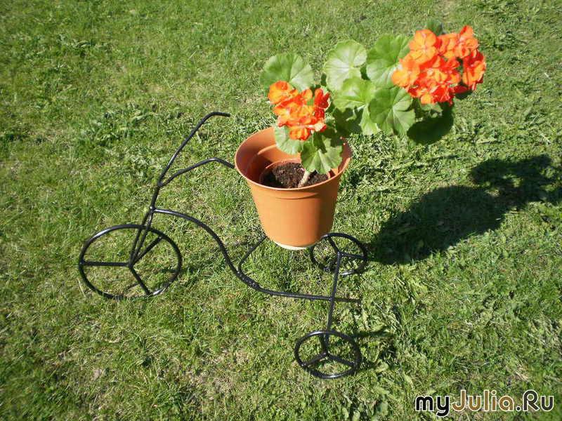 Держатели для садовых цветов своими руками