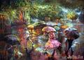 игривый дождь